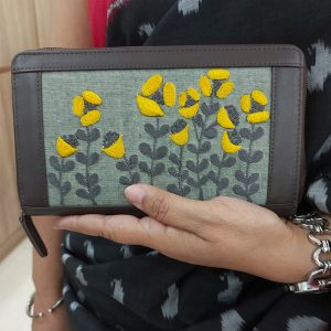 Embroidery Handbags and All round zip clutch (Flower)
