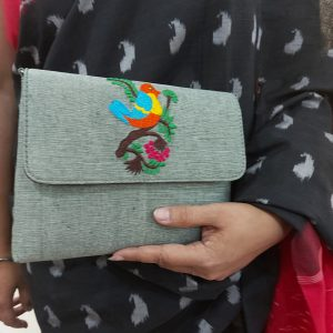 Embroidery Clutch (Bird)