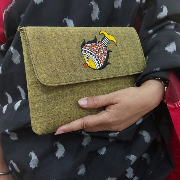 Embroidery Handbag (Fish)